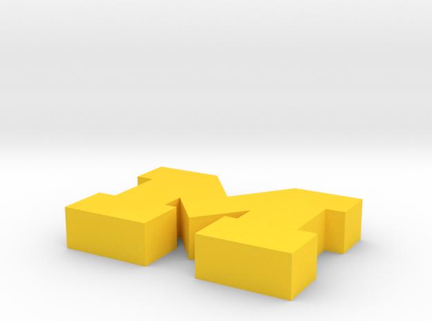Michigan Logo in Yellow Strong & Flexible Polished