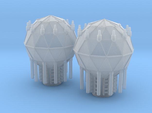 1:2700 Shield Generators for Imperial Cruiser in Smoothest Fine Detail Plastic
