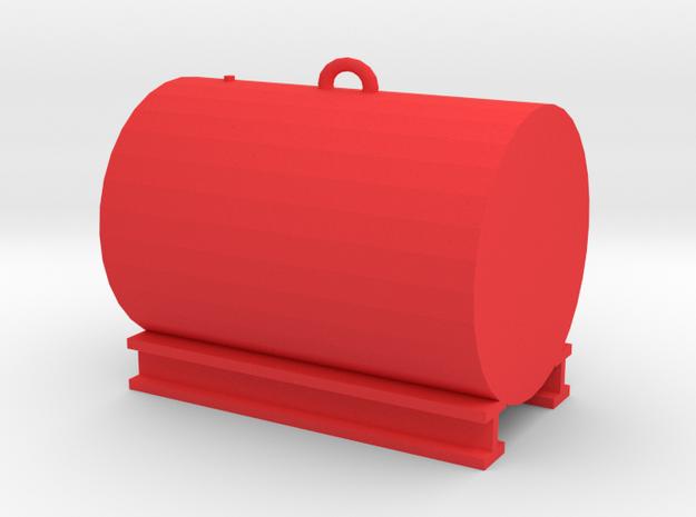 500 Gallon Tank 1:50 Scale in Red Processed Versatile Plastic