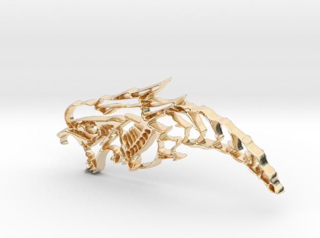 Drachenkopf / Dragonhead in 14K Yellow Gold