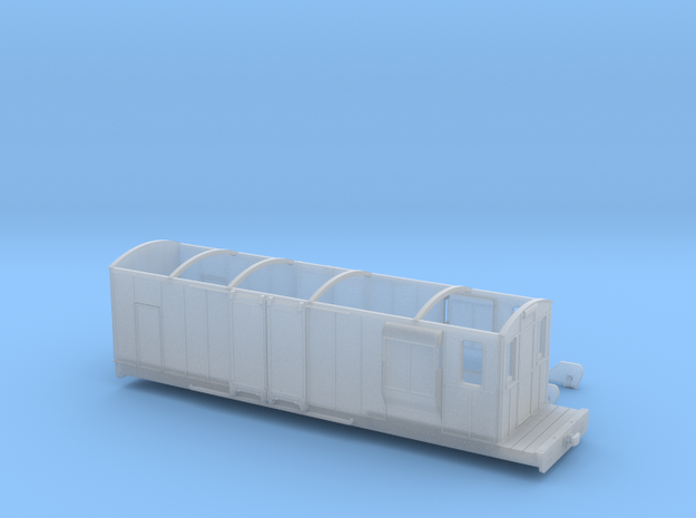FR Gloucester bogie brake van in Smooth Fine Detail Plastic