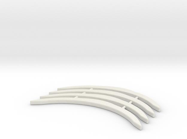 Renfort McLaren 12C MiniZ 4pc in White Natural Versatile Plastic