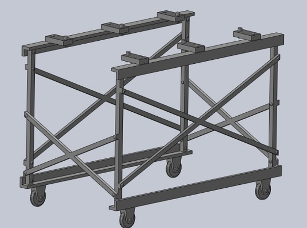 OX5-16 Scale Engine Stand in Smooth Fine Detail Plastic