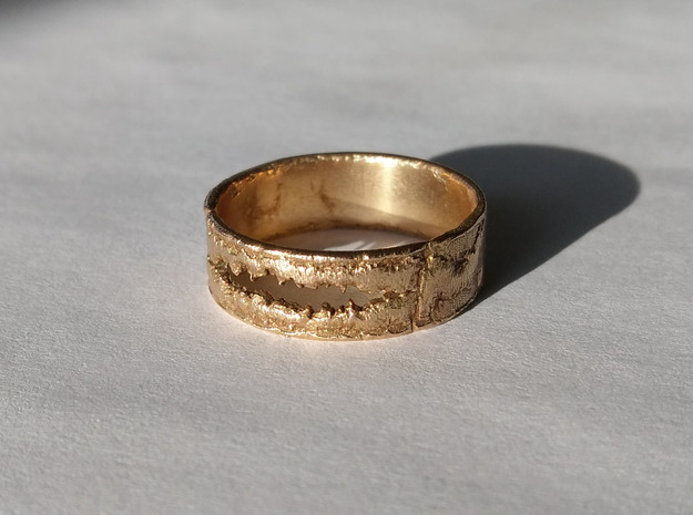 Smile Ring in Raw Bronze