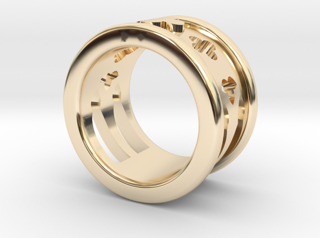 Cathedral Ring in 14k Gold Plated: 5.5 / 50.25