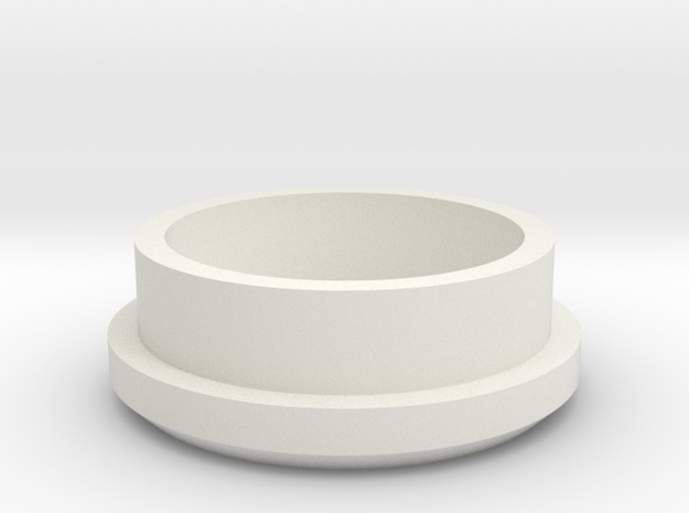 """Charging Cap - 1"""" Thin Wall Blank  in White Strong & Flexible"""