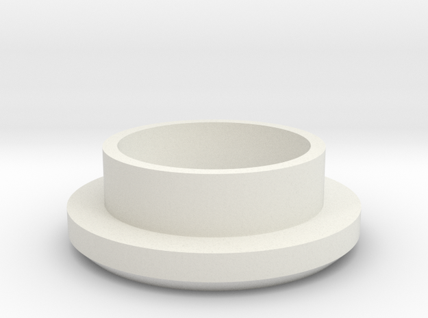 "Charging Cap - 1"" Thick Wall Blank  in White Natural Versatile Plastic"
