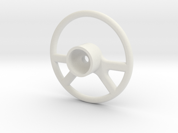 Vaterra Ascender K10 - Steering Wheel 2 of 2 in White Natural Versatile Plastic