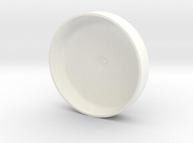 1/10 SCALE 70'S WINNEBAGO TIRE COVER BOTTOM in White Processed Versatile Plastic: 1:10