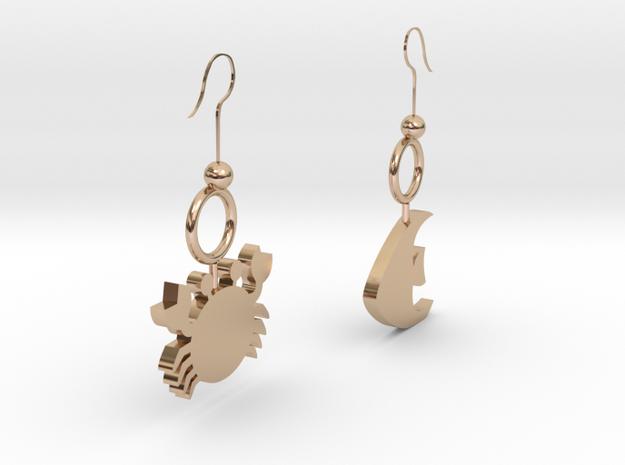 Earrings in 14k Rose Gold