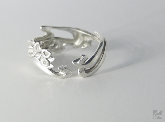 Calla Lilies Ring in Polished Silver: 6.5 / 52.75