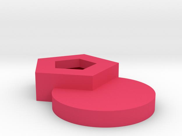 杯蓋 in Pink Strong & Flexible Polished: Medium