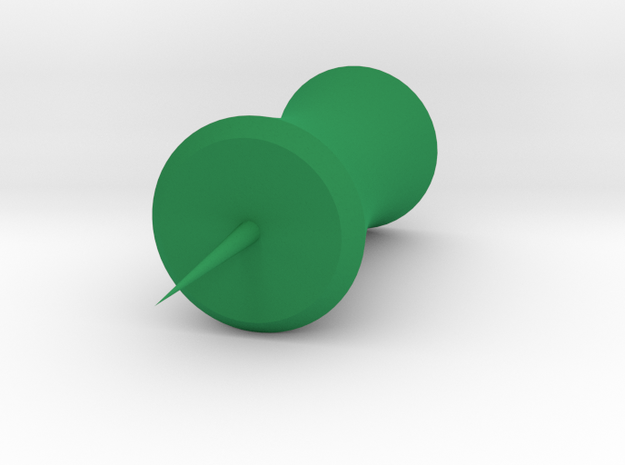 Bamboo Pushpin in Green Strong & Flexible Polished