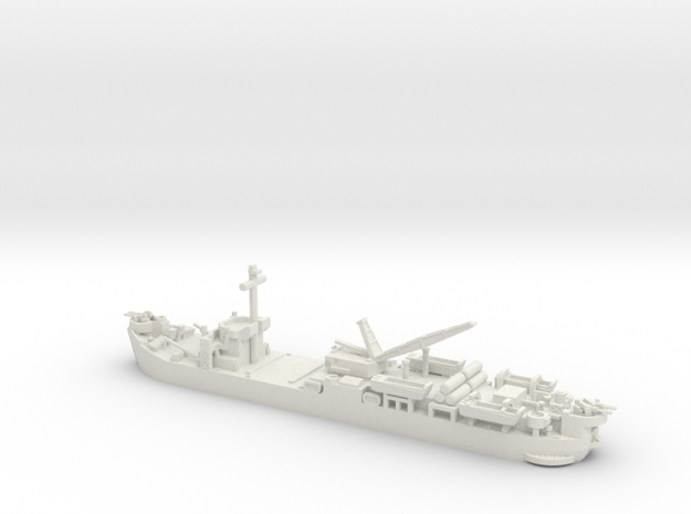 1/600 Scale USS Laysan Island Class in White Strong & Flexible