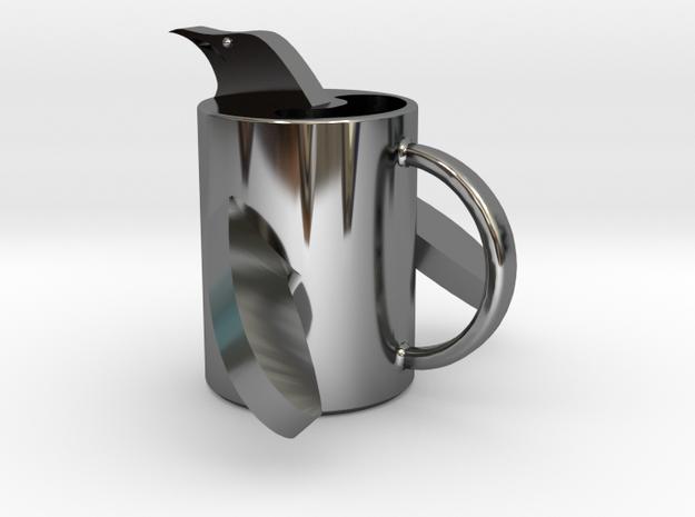 penguin mug .stl in Premium Silver