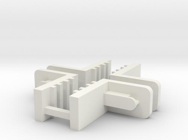 FixLat Mosler MiniZ 2pr in White Strong & Flexible