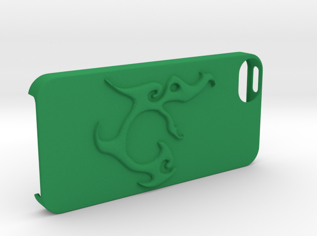 Iphone 5 Case Segunda Logo in Green Strong & Flexible Polished