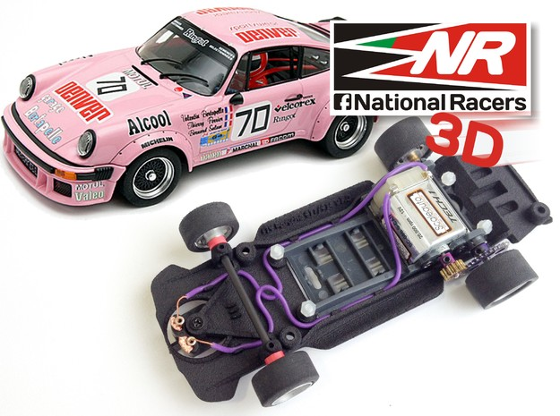 3D chassis for FLY Porsche 911-934 (SW/Inline) in Black Natural Versatile Plastic