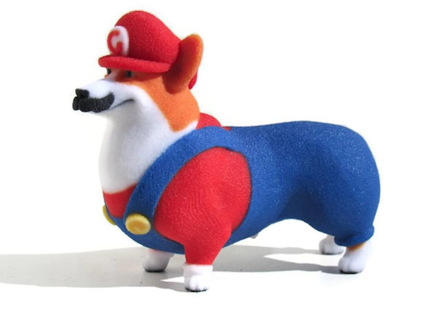 Super Corgio (Mario Corgi)  in Full Color Sandstone