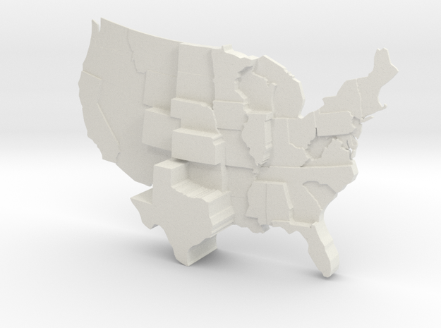 USA by Tornados in White Natural Versatile Plastic