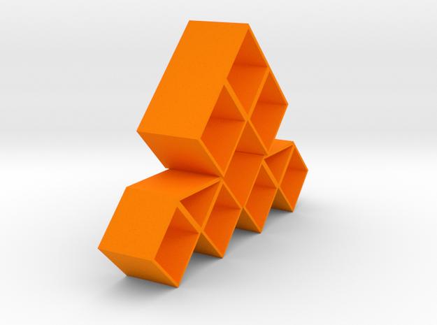 Combined cabinet in Orange Processed Versatile Plastic
