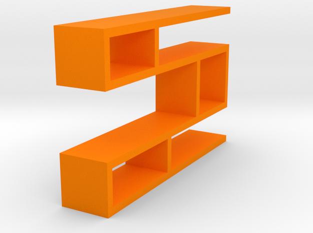 Hanging cabinet in Orange Processed Versatile Plastic