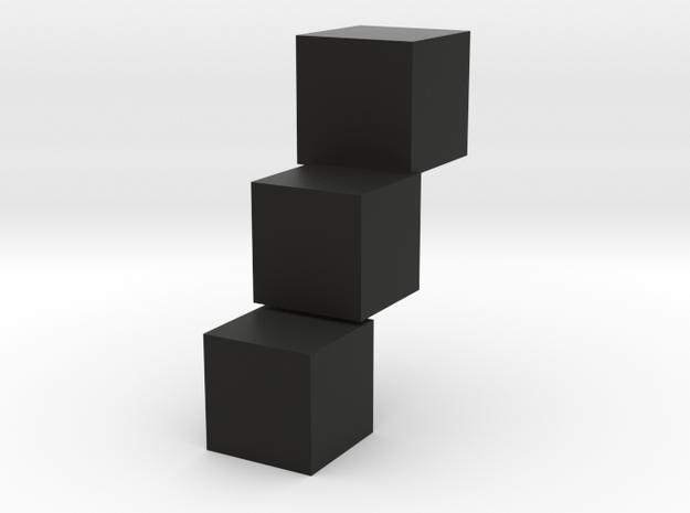 Stairs shoe in Black Natural Versatile Plastic
