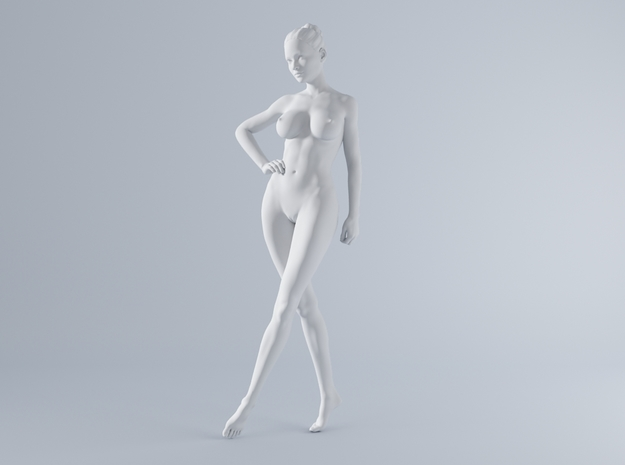 Mini Sexy Woman 024 1/64 in Smooth Fine Detail Plastic: 1:64 - S