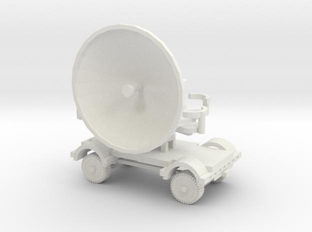 1/120 German Radar Wuerzburg in TT scale in White Strong & Flexible
