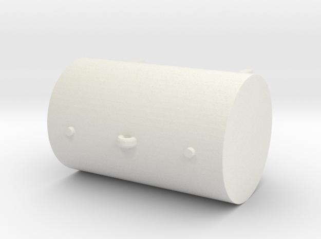 1:87 550 Gallon Fuel Tank in White Natural Versatile Plastic
