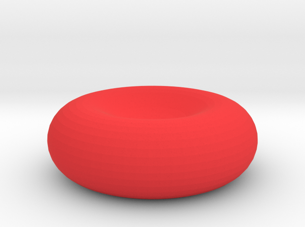 Red Blood Cell in Red Processed Versatile Plastic