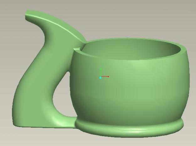 Plane Tote Espresso Cup 3d printed Groovy in Green