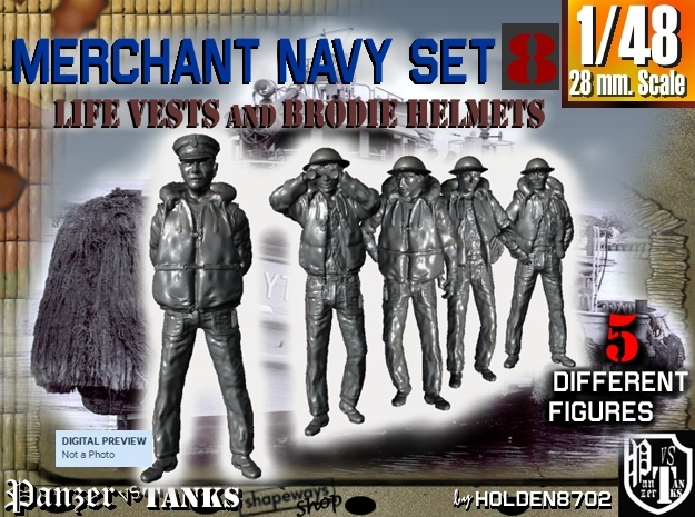 1-48 Merchant Navy Set 8