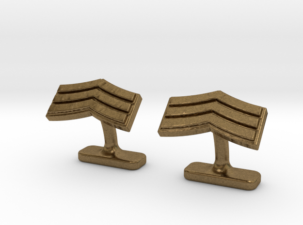 Mens sergeant 3 stripe cufflinks