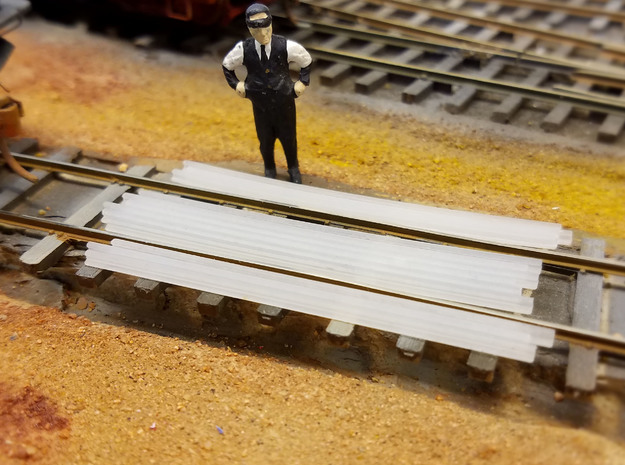 1-48 Cattle Guard 2016.12.30 in Smooth Fine Detail Plastic