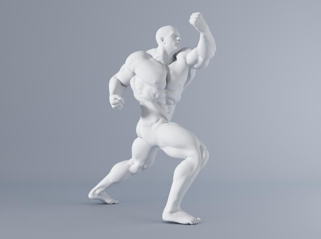 Mini Strong Man 1/64 029 in Smooth Fine Detail Plastic: 1:64 - S