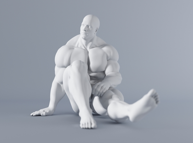 Mini Strong Man 1/64 031 in Smooth Fine Detail Plastic: 1:64 - S