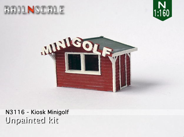 Kiosk Minigolf (N 1:160) in Frosted Ultra Detail