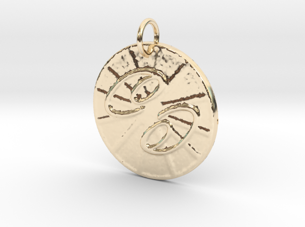 Cancer Wheel by ~M. (June 21 - July 22) in 14k Gold Plated
