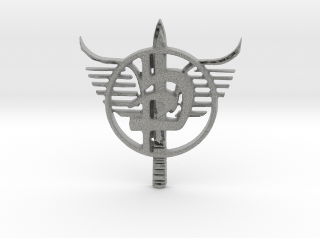 Krav Maga Emblem v.1 in Metallic Plastic: Medium