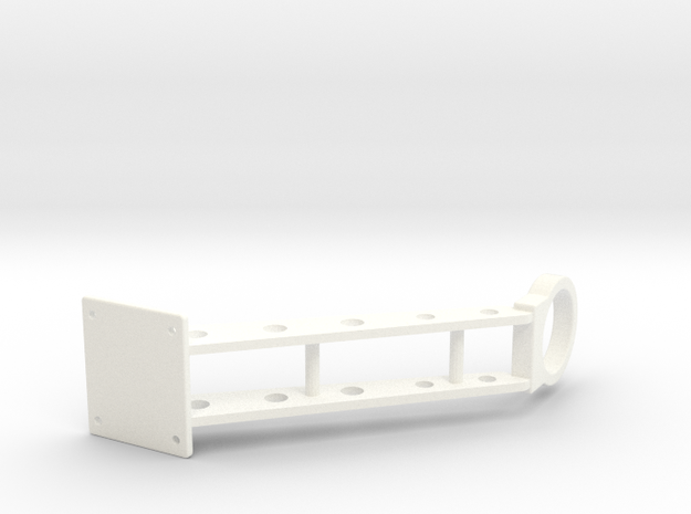 .375 PIPE HOLDER in White Processed Versatile Plastic