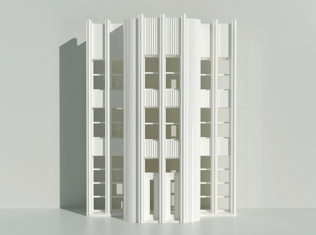 Architectural Facade // Art Deco 001 in White Natural Versatile Plastic