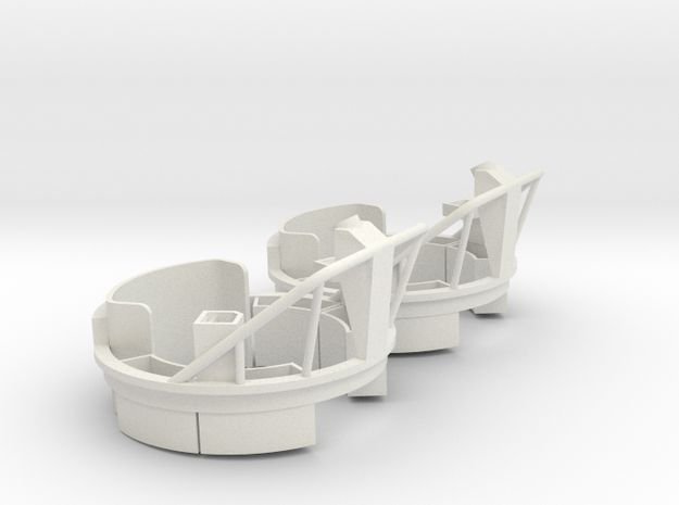 Mk17 Carriage (pair, multiple scales) in White Natural Versatile Plastic: 1:24