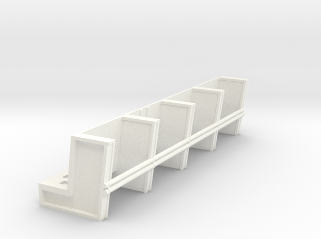 YT1300 DEAGO HALL PILLARS TOP SECTION PLASTIC in White Processed Versatile Plastic