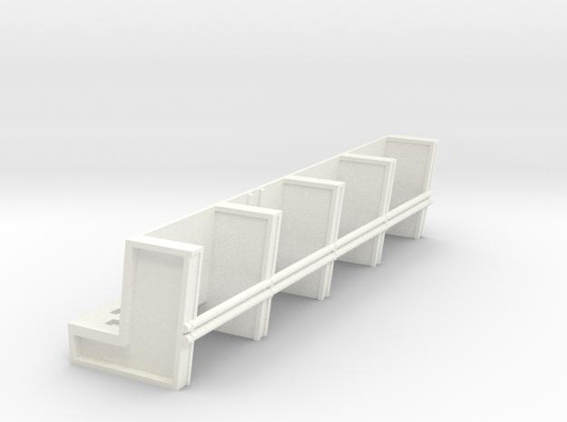 YT1300 DEAGO HALL PILLARS TOP SECTION PLASTIC in White Processed Versatile Plastic