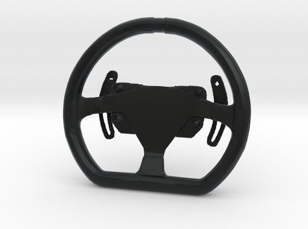 Steering Wheel P-GT4-Type - 1/10 in Black Hi-Def Acrylate