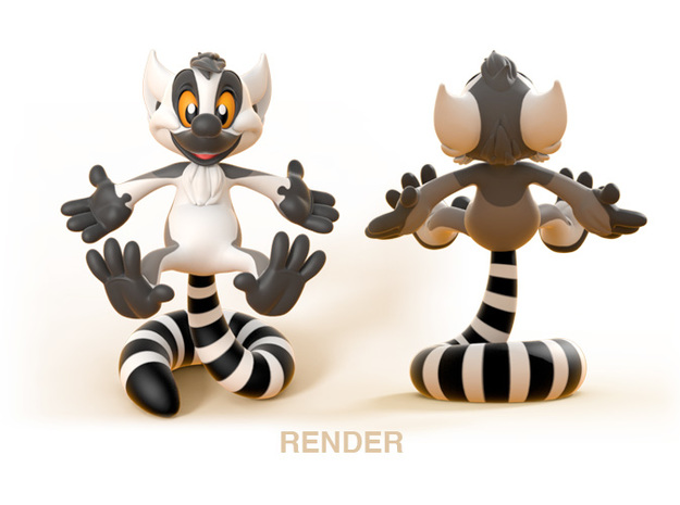Kiki the Lemur 3d printed
