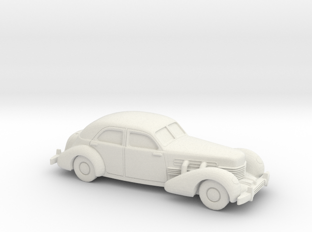 1/72 1935 Cord 812 Sedan in White Natural Versatile Plastic