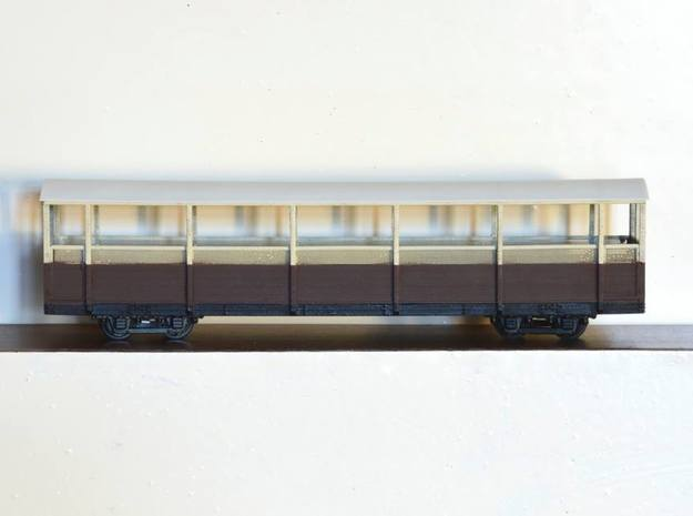 Vale of Rheidol Railway Open Coach (009) in Smooth Fine Detail Plastic