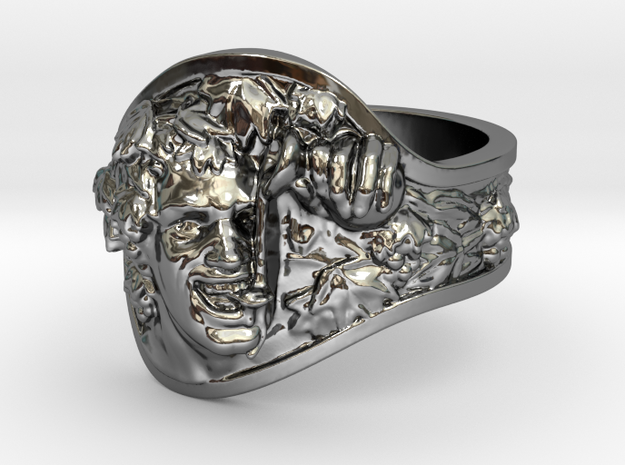 Vice|Bachus Ring Size 11 in Fine Detail Polished Silver